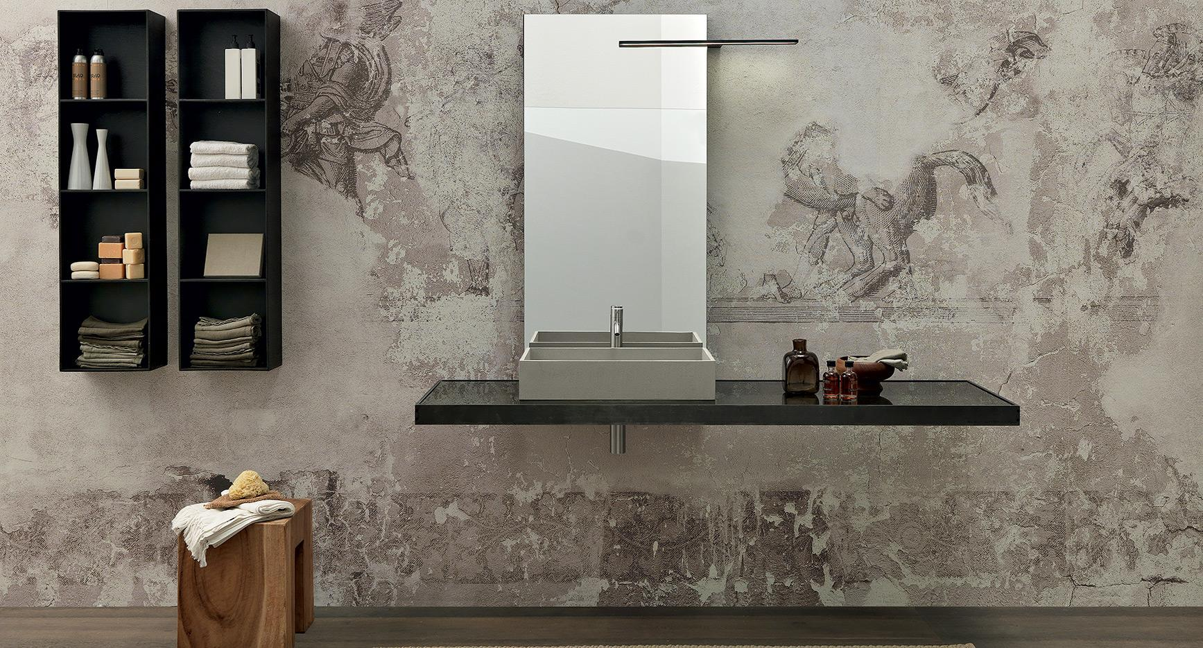 modulnova-bath-surf-collection-smoked-glas-and-raw-metal-with-cement-ressin-zink-front
